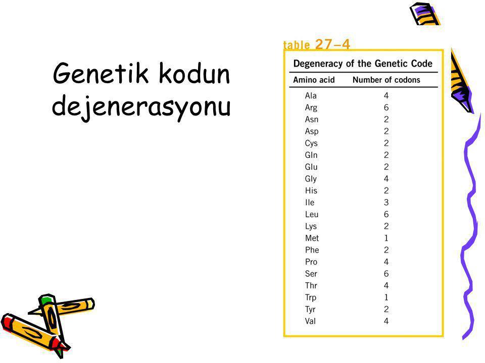 Genetik kodun dejenerasyonu
