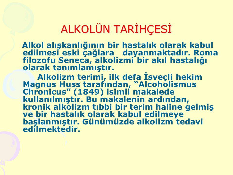 ALKOLÜN TARİHÇESİ Alkolün tarihi neredeyse insanlık tarihi kadar eskidir. İnsanlığın yerleşik hayata geçmesiyle alkol üretimi de başlamıştır. İlk bira