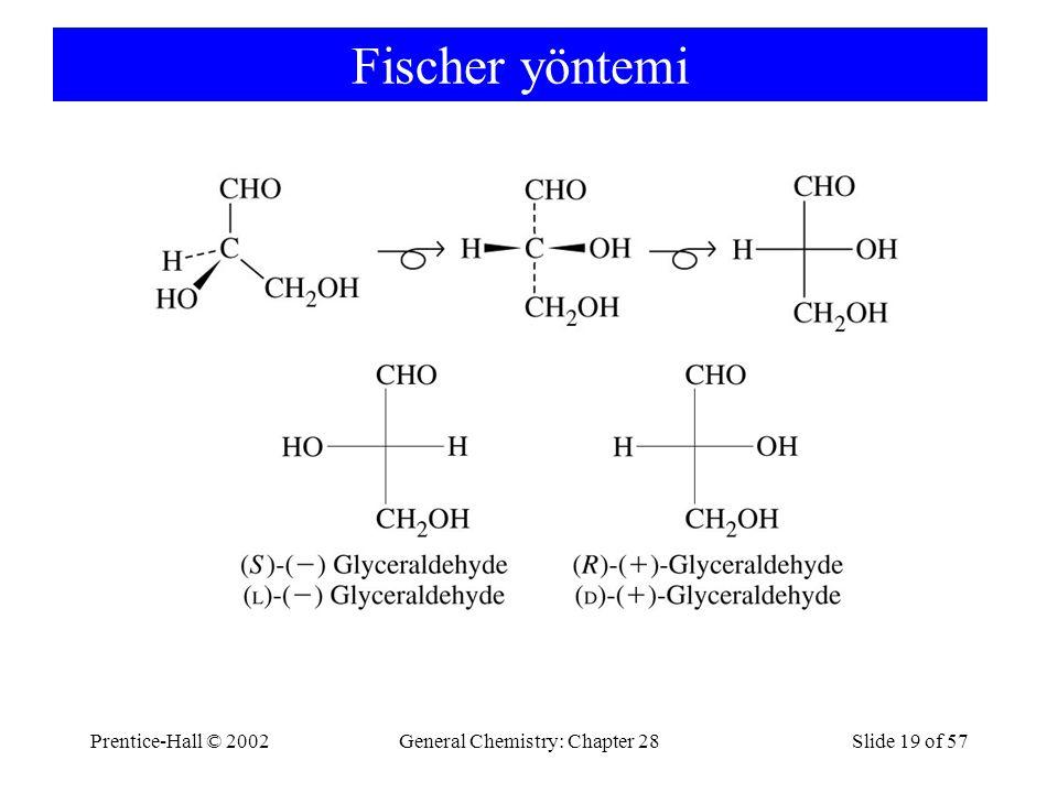 Prentice-Hall © 2002General Chemistry: Chapter 28Slide 19 of 57 Fischer yöntemi