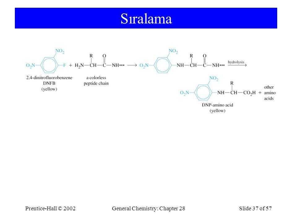 Prentice-Hall © 2002General Chemistry: Chapter 28Slide 37 of 57 Sıralama
