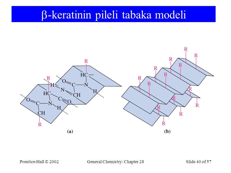 Prentice-Hall © 2002General Chemistry: Chapter 28Slide 40 of 57  -keratinin pileli tabaka modeli
