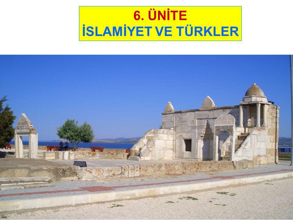 1-TÜRKLERİN MÜSLÜMAN OLUŞU Eski Türkler, Göktanrı inancına sahiptiler.
