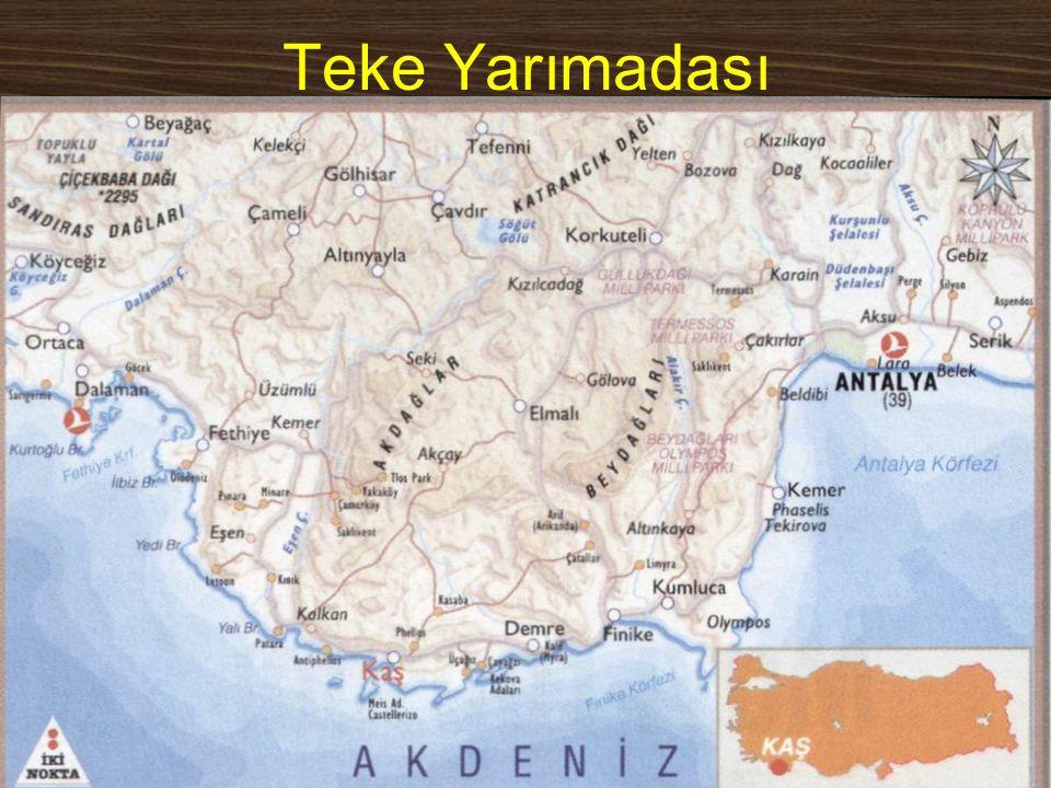 www.yunusemrecosan.com Teke Yarımadası