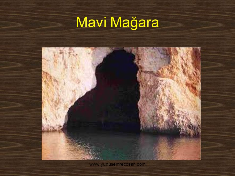 www.yunusemrecosan.com Mavi Mağara