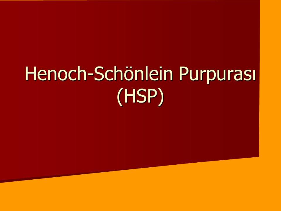 Henoch-Schönlein Purpurası (HSP)