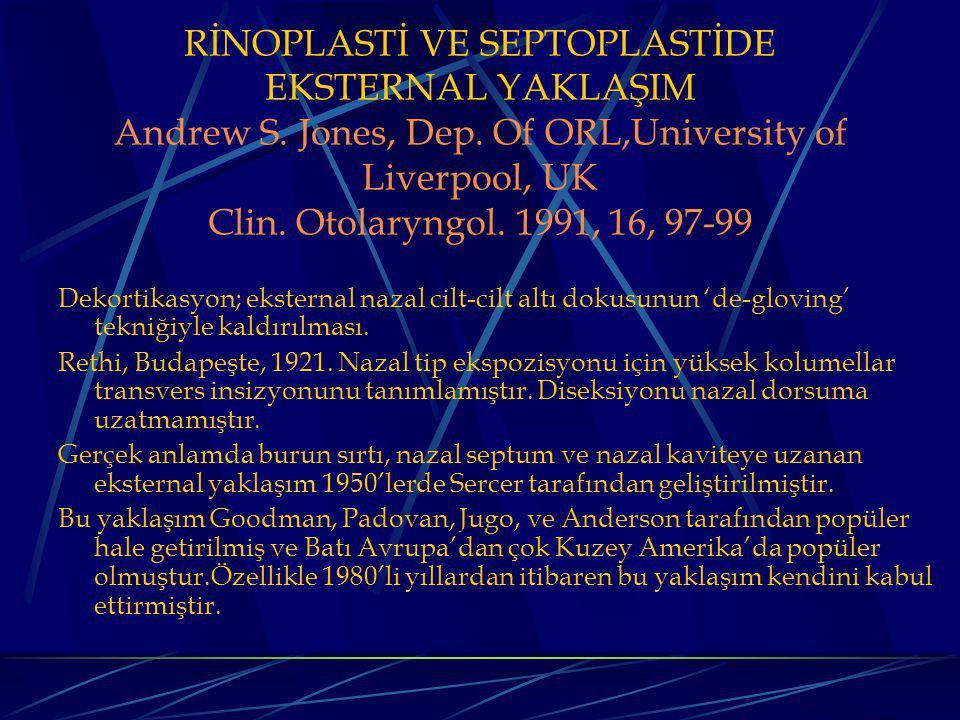 RİNOPLASTİ VE SEPTOPLASTİDE EKSTERNAL YAKLAŞIM Andrew S.