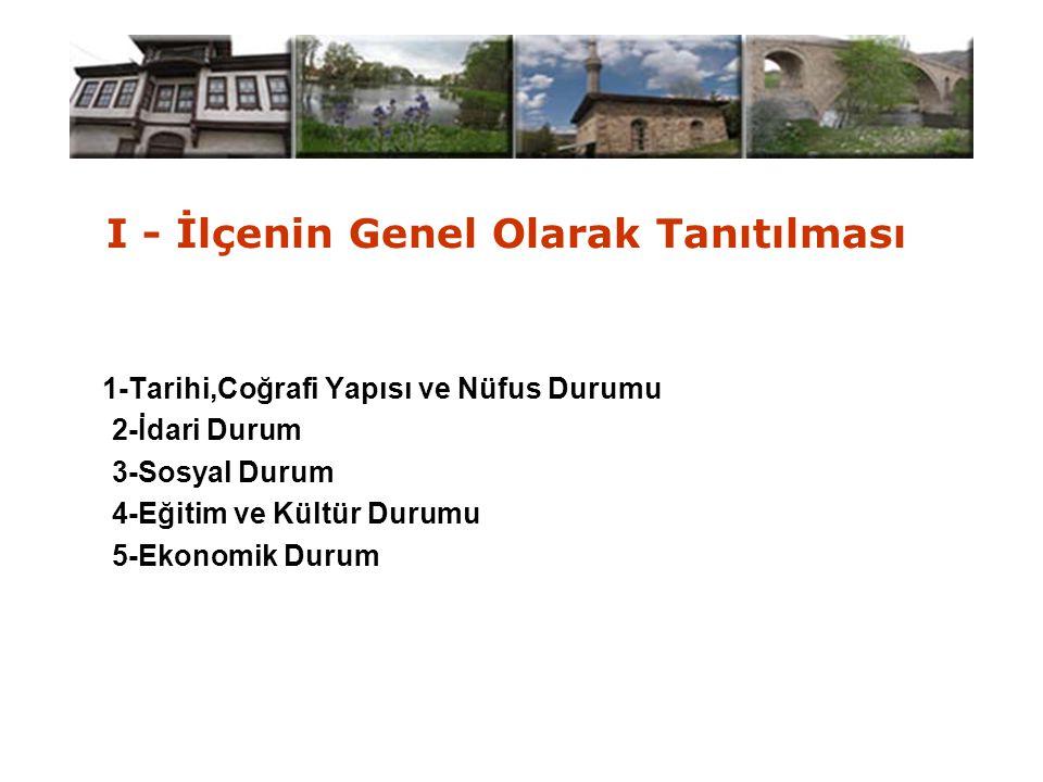 II - Mahalli İdarelerin Durumu 1-İlçe Özel İdare Müd. 2-Belediyeler 3-Köyler 4-K.H.G.B.