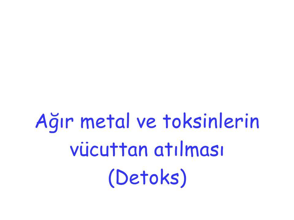 Ağır metal ve toksinlerin vücuttan atılması (Detoks)