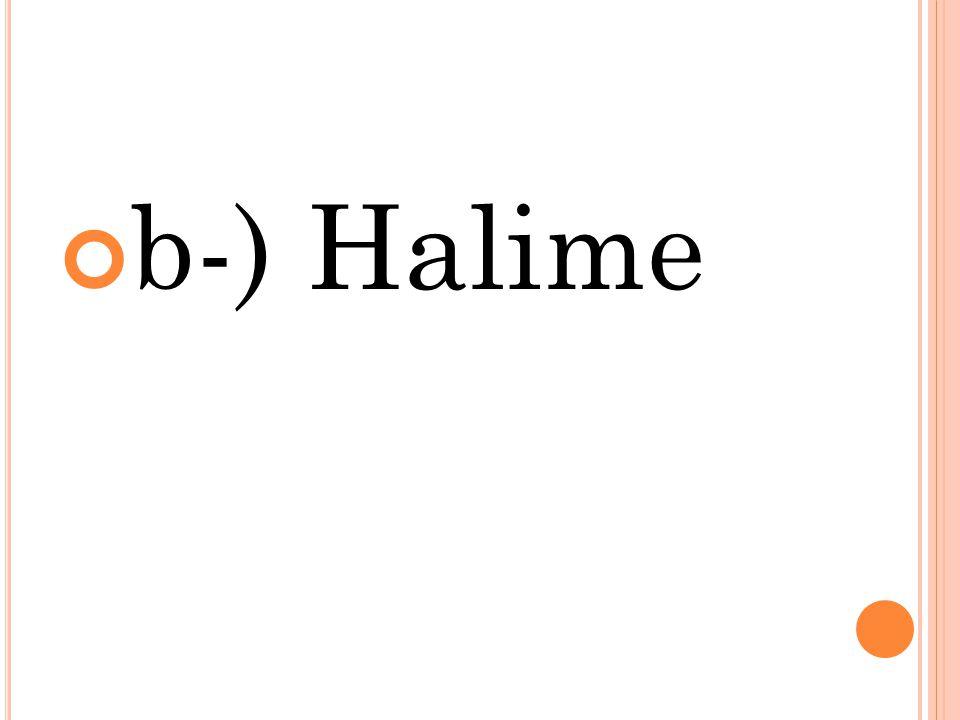 b-) Halime