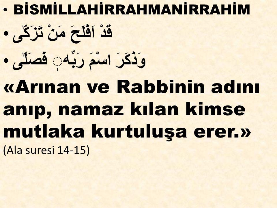  - Ya Rabbi, bizi dostlarına dost, düşmanlarına düşman olanlardan eyle.