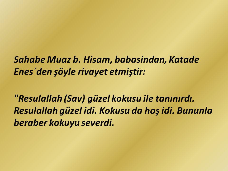 Sahabe Muaz b. Hisam, babasindan, Katade Enes´den şöyle rivayet etmiştir: