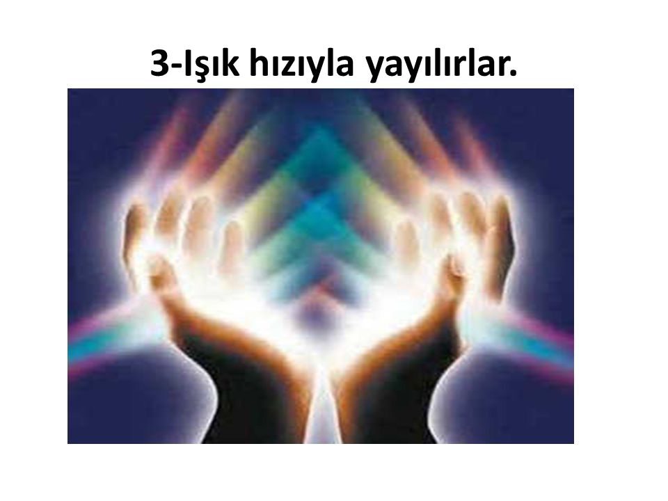 3-Işık hızıyla yayılırlar.
