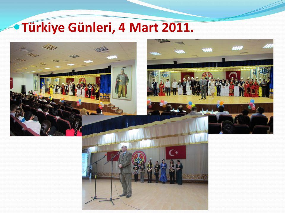 Türkiye Günleri, 4 Mart 2011.