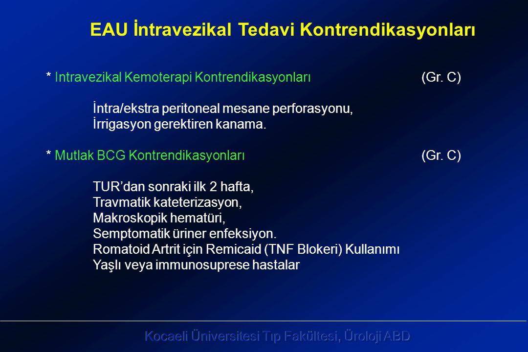 * Intravezikal Kemoterapi Kontrendikasyonları (Gr.