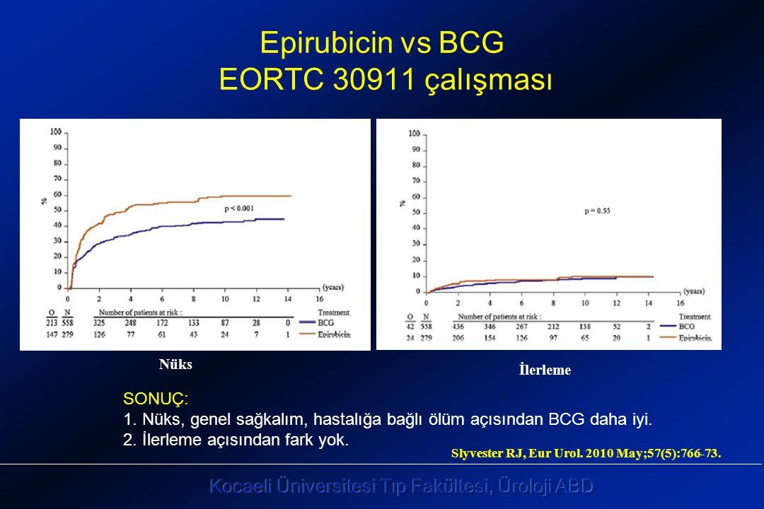 Nüks İlerleme Epirubicin vs BCG EORTC 30911 çalışması SONUÇ: 1.