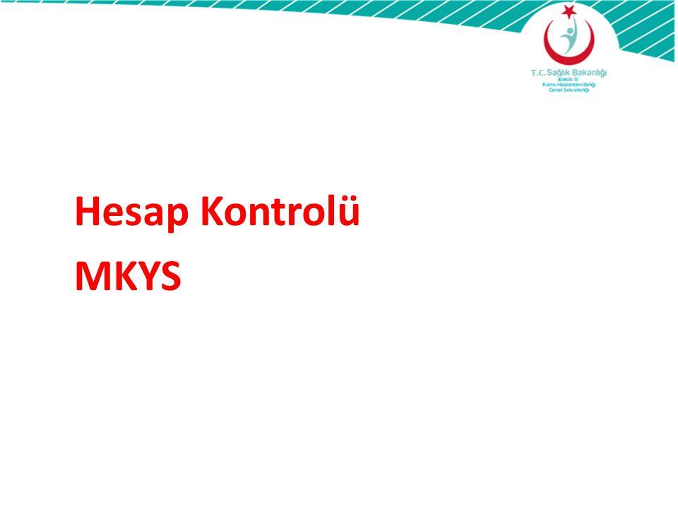 TDMS Mizan-MKYS Hesap Döküm Cetveli