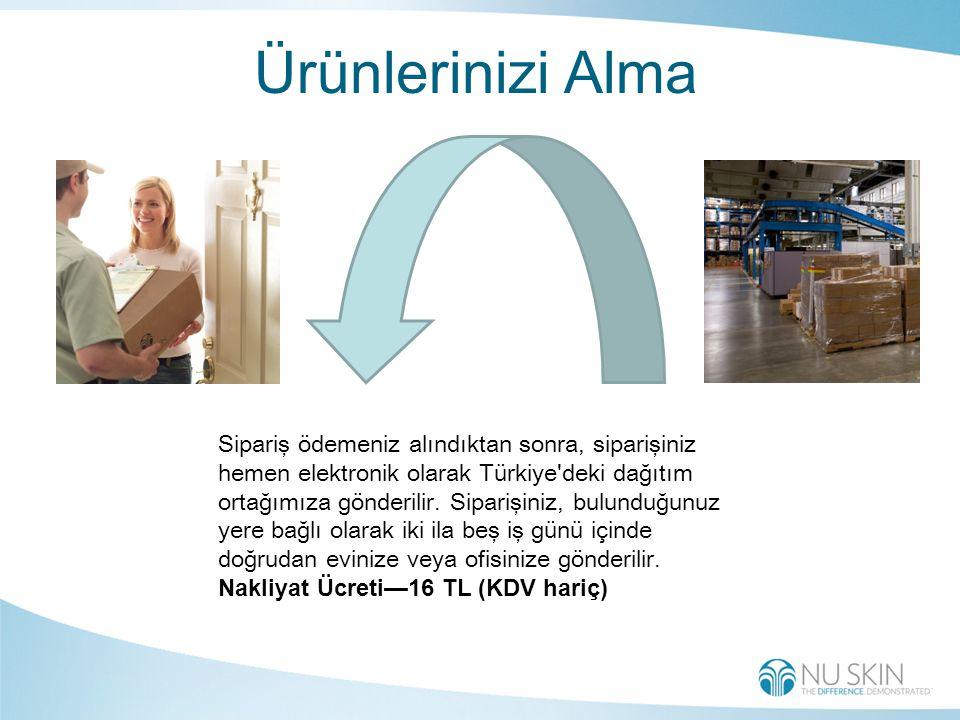 Ürünlerinizi Alma Sipariş ödemeniz alındıktan sonra, siparişiniz hemen elektronik olarak Türkiye deki dağıtım ortağımıza gönderilir.