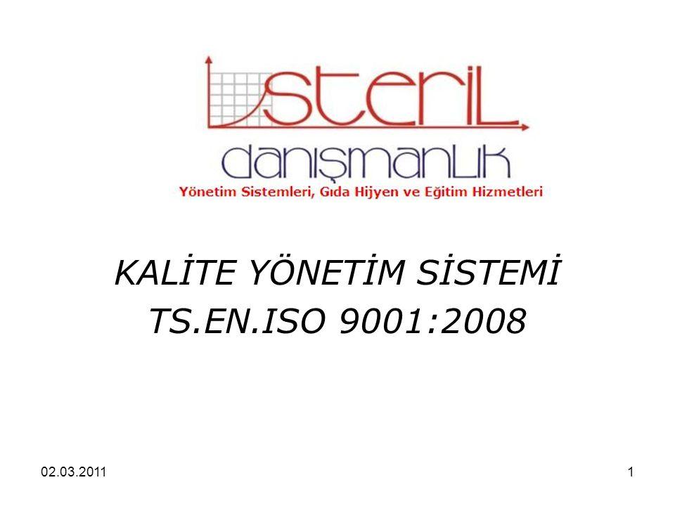02.03.20111 KALİTE YÖNETİM SİSTEMİ TS.EN.ISO 9001:2008