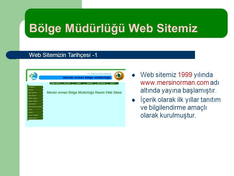 Web sitemiz 1999 yılında www.mersinorman.com adı altında yayına başlamıştır. İçerik olarak ilk yıllar tanıtım ve bilgilendirme amaçlı olarak kurulmuşt