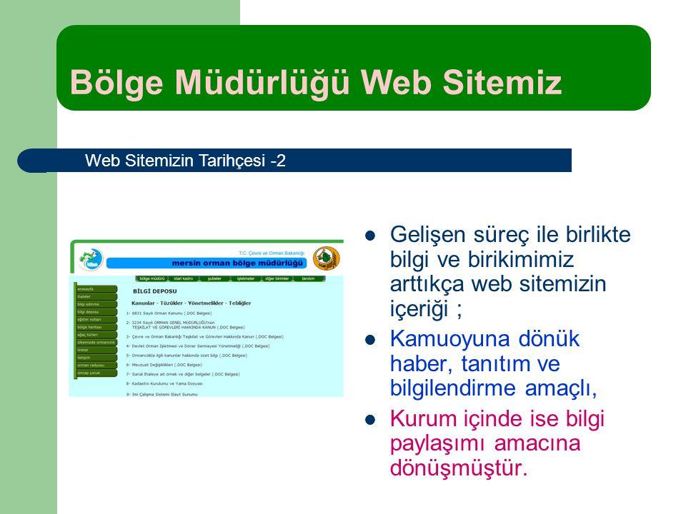 Gelişen süreç ile birlikte bilgi ve birikimimiz arttıkça web sitemizin içeriği ; Kamuoyuna dönük haber, tanıtım ve bilgilendirme amaçlı, Kurum içinde