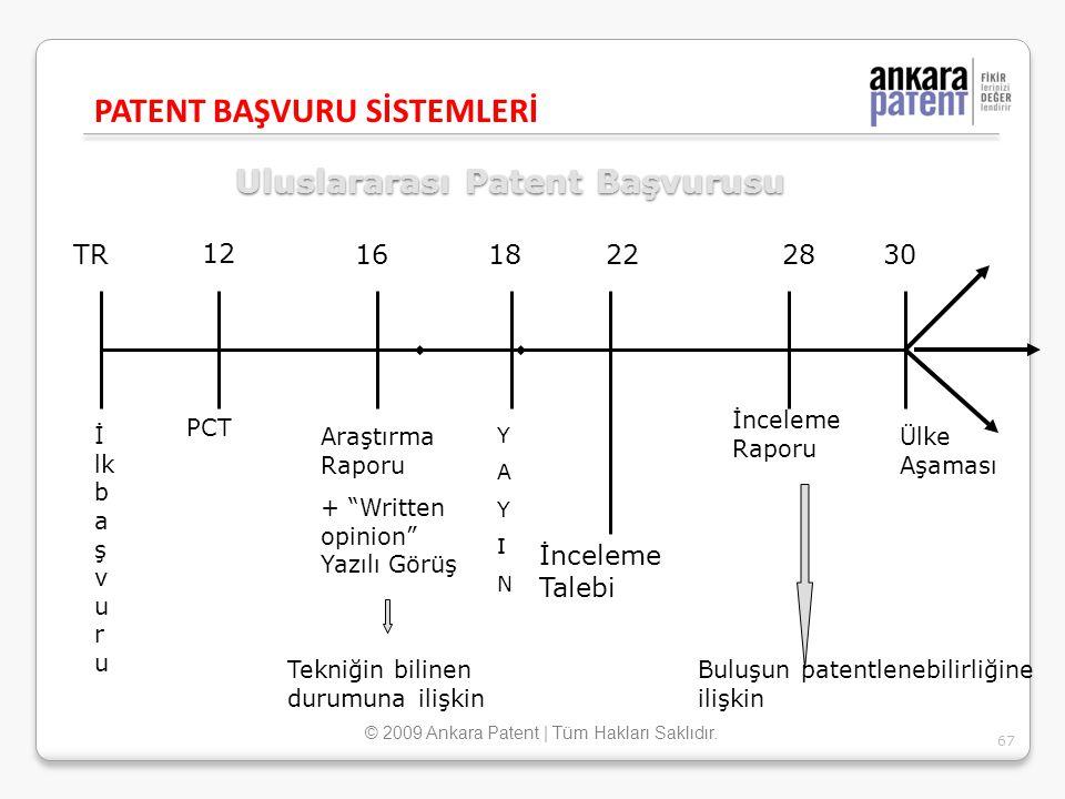 """Uluslararası Patent Başvurusu 12 1618222830 İ lk b a ş v u r u PCT Araştırma Raporu + """"Written opinion"""" Yazılı Görüş YAYINYAYIN İnceleme Raporu Ülke A"""