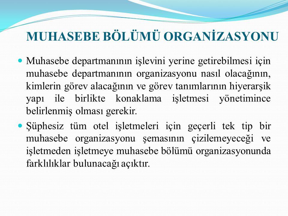 Dedeman İstanbul Oteli Muhasebe Departmanı Organizasyon Yapısı