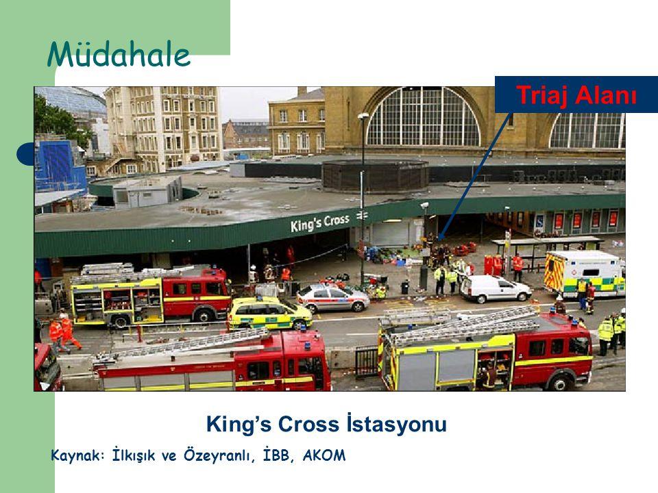 Müdahale King's Cross İstasyonu Triaj Alanı Kaynak: İlkışık ve Özeyranlı, İBB, AKOM