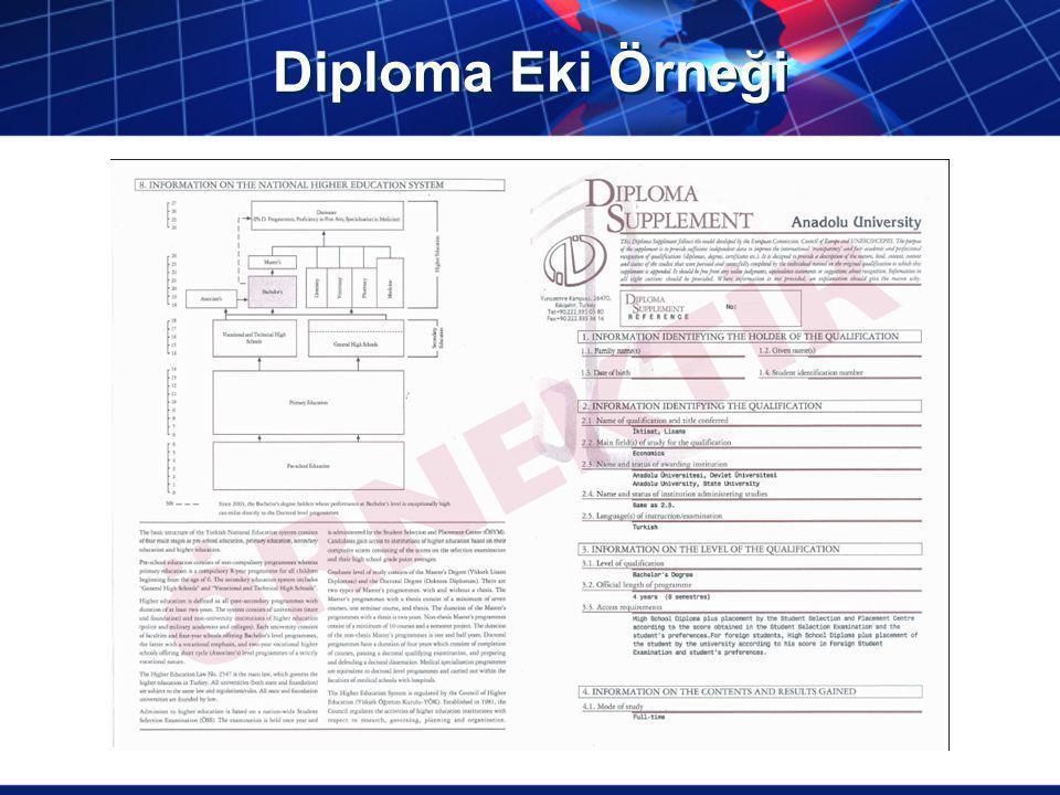 Diploma Eki Örneği