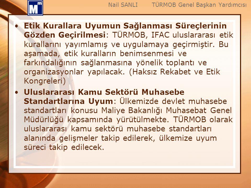 Etik Kurallara Uyumun Sağlanması Süreçlerinin Gözden Geçirilmesi: TÜRMOB, IFAC uluslararası etik kurallarını yayımlamış ve uygulamaya geçirmiştir. Bu