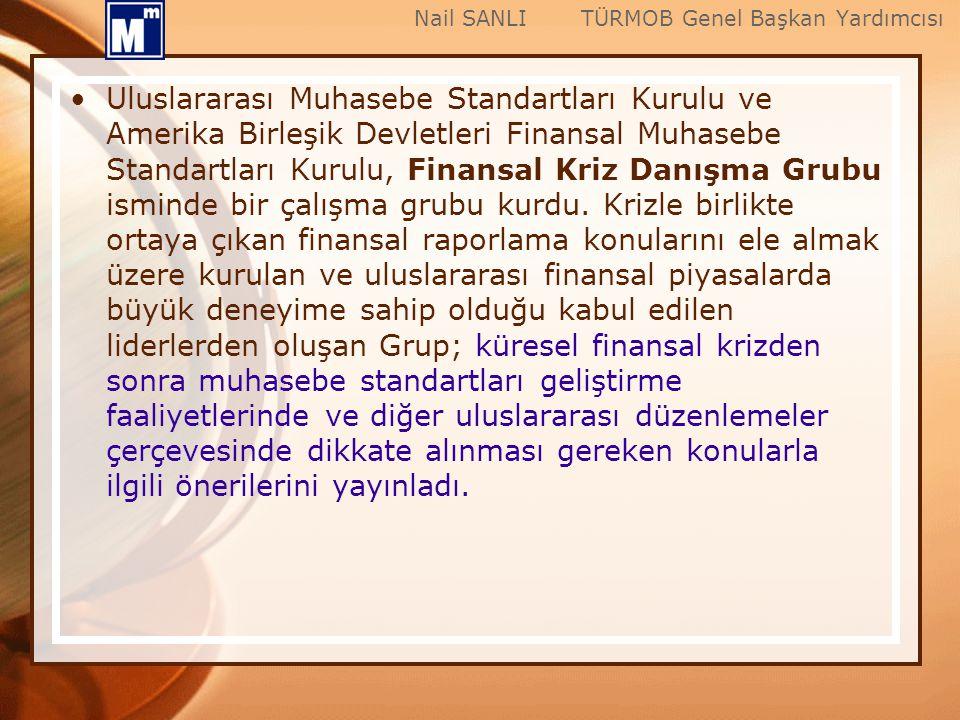 Uluslararası Muhasebe Standartları Kurulu ve Amerika Birleşik Devletleri Finansal Muhasebe Standartları Kurulu, Finansal Kriz Danışma Grubu isminde bi