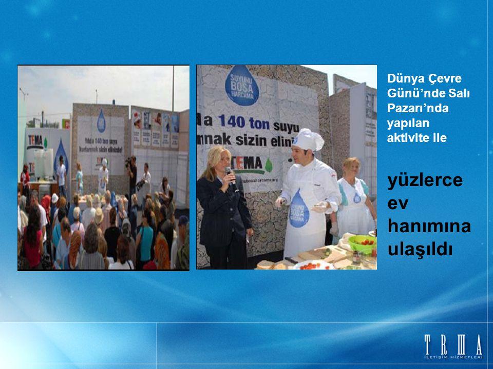 Dünya Çevre Günü'nde Salı Pazarı'nda yapılan aktivite ile yüzlerce ev hanımına ulaşıldı