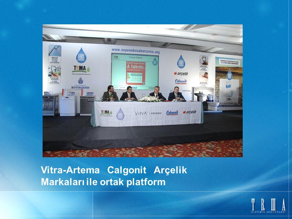 Vitra-Artema Calgonit Arçelik Markaları ile ortak platform