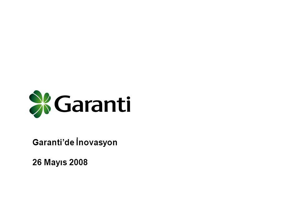 Garanti'de İnovasyon 26 Mayıs 2008