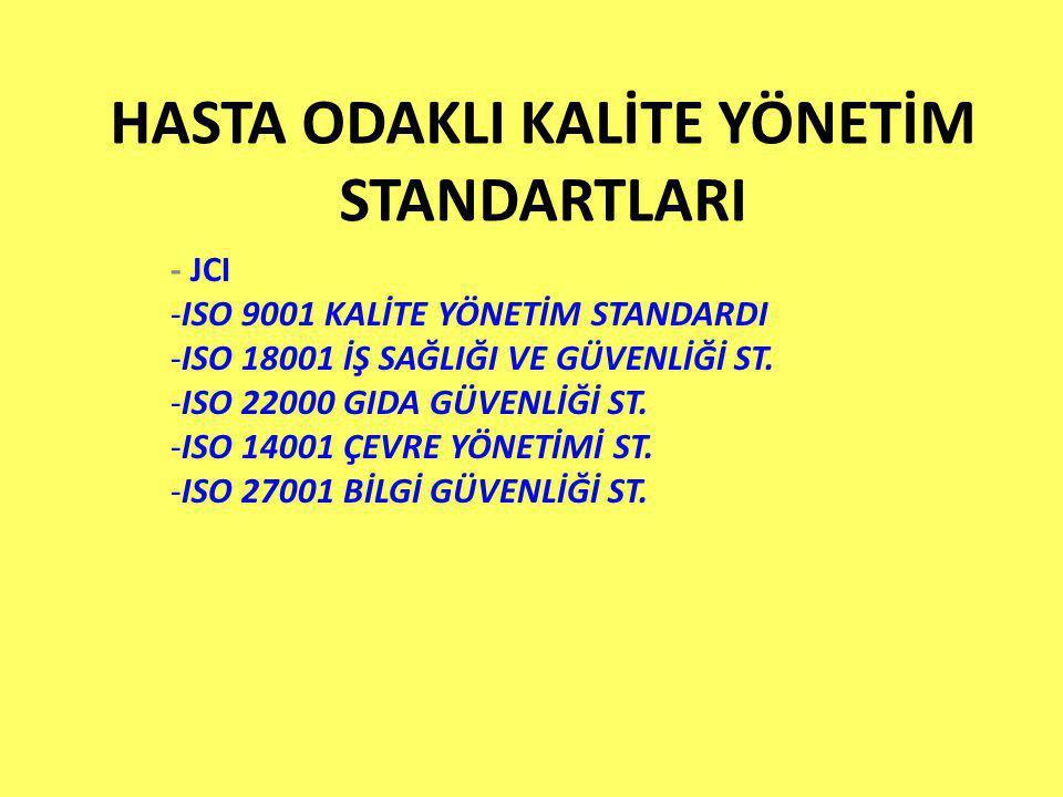Ürün Gerçekleştirme 14)Radyasyon güvenlik programı (ISO 18001, 9001, JCI) 15)Radyoloji kalite kontrol programı ISO 18001, 9001, JCI) 16)Tanısal cihazlar yönetim programı (Cihaz seçimi, alımı, envanteri, bakımı, kalibrasyonu vs.) (ISO 18001, 9001, JCI)