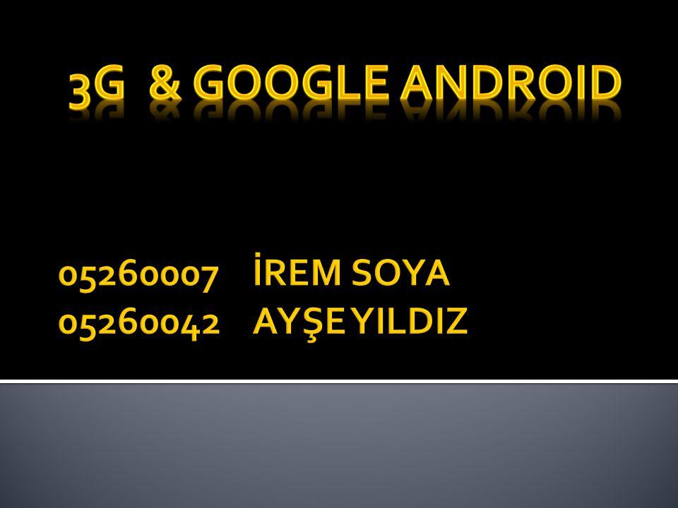  3G, hızlı ve kaliteli veri aktarımı sağlayan bir altyapı geliştirmesidir.