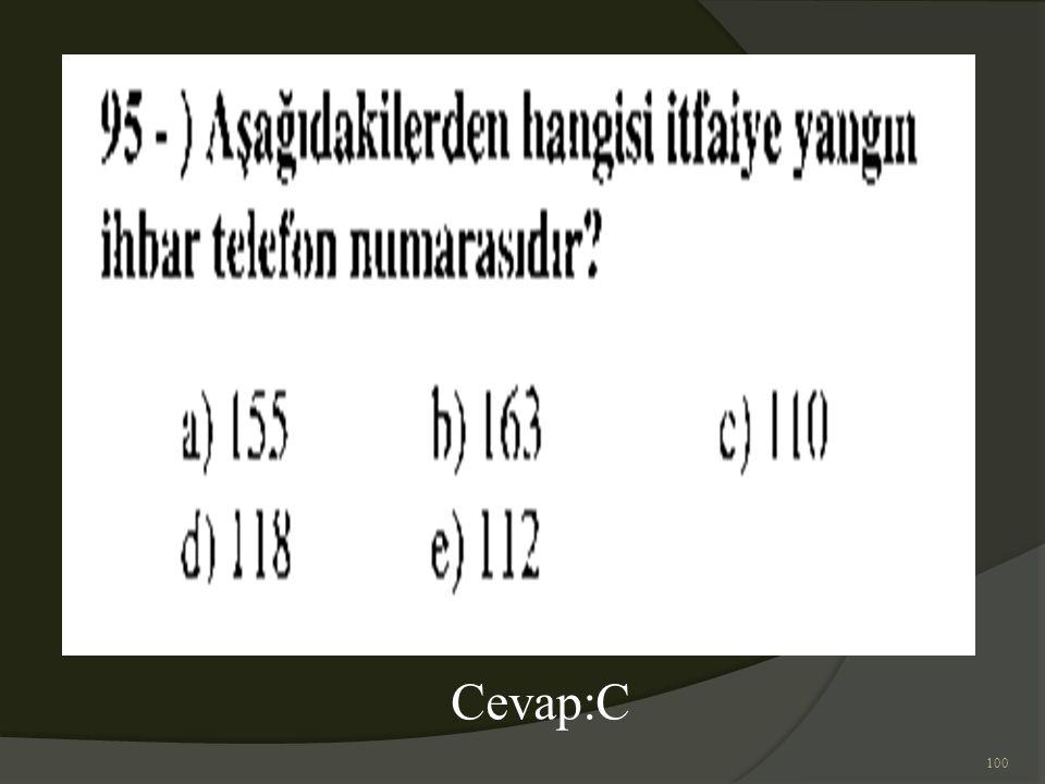 100 Cevap:C