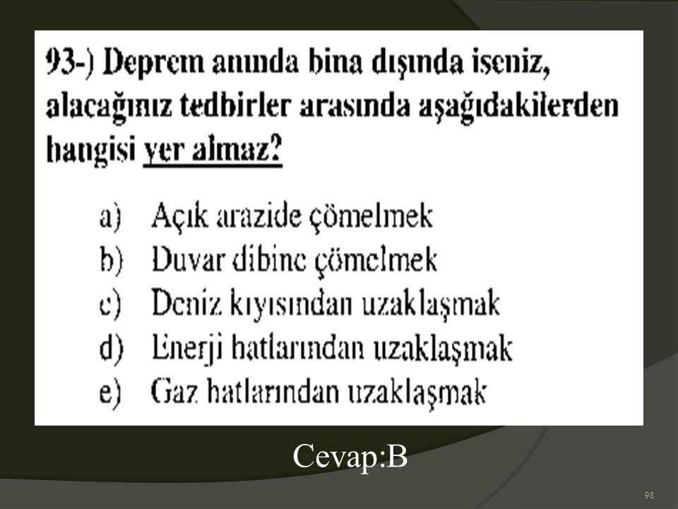 98 Cevap:B