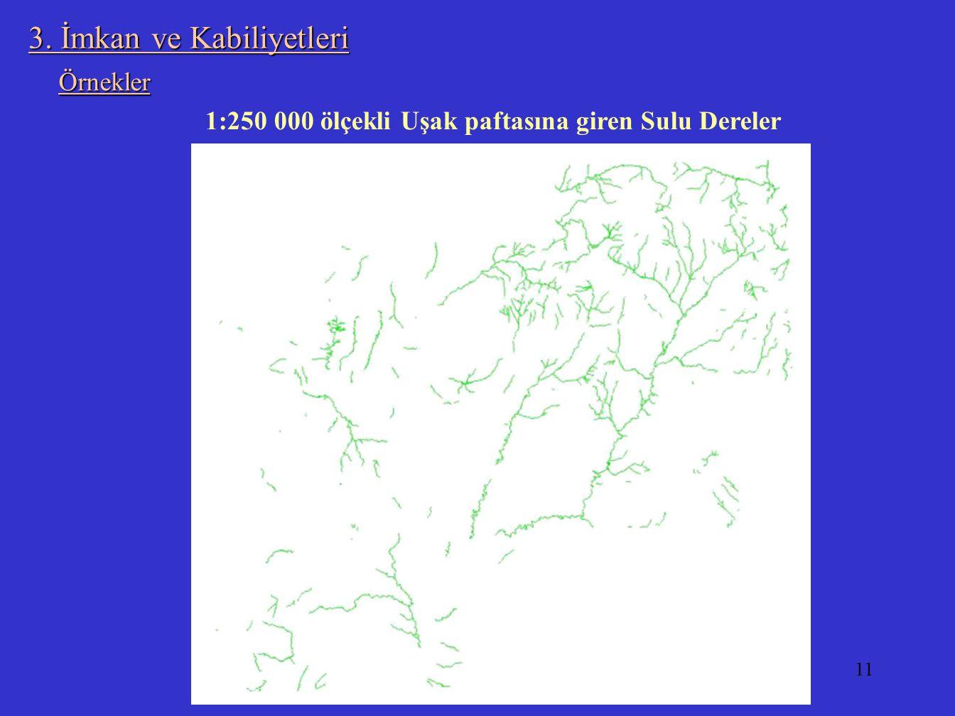 11 3. İmkan ve Kabiliyetleri 1:250.000 ölçekli Uşak paftasına giren Sulu Dereler Örnekler