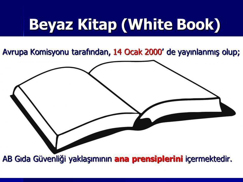 Beyaz Kitap (White Book) Avrupa Komisyonu tarafından, 14 Ocak 2000' de yayınlanmış olup; AB Gıda Güvenliği yaklaşımının ana prensiplerini içermektedir
