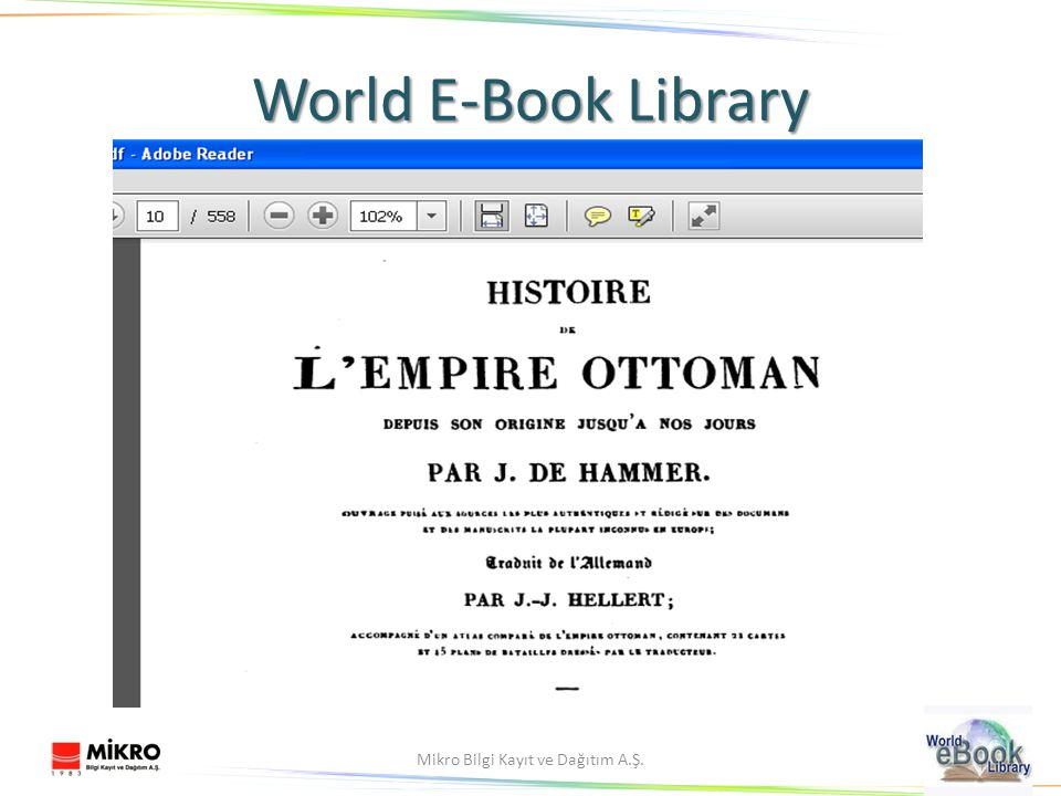 14Mikro Bilgi Kayıt ve Dağıtım A.Ş. World E-Book Library