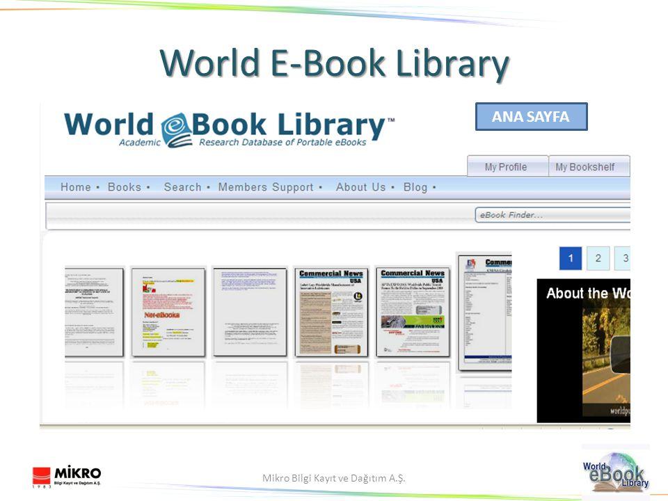8Mikro Bilgi Kayıt ve Dağıtım A.Ş. World E-Book Library ANA SAYFA
