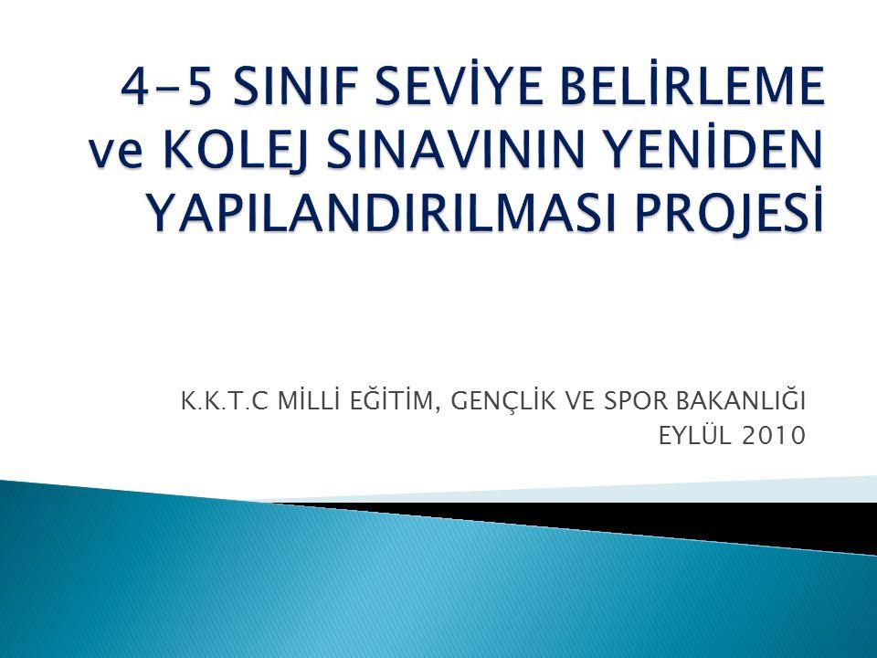 K. K. T. C MİLLİ EĞİTİM, GENÇLİK VE SPOR BAKANLIĞI EYLÜL 2010