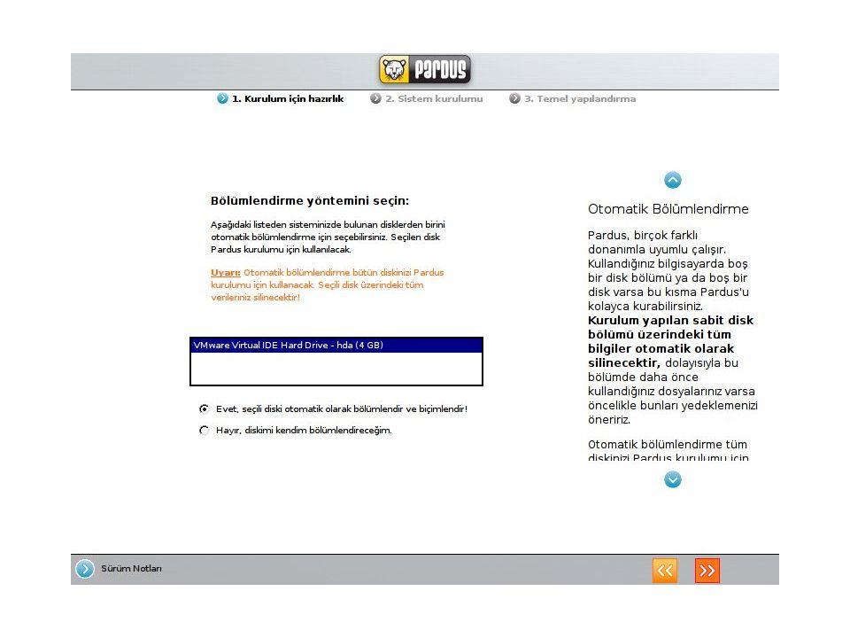 Windows ile iletişim ve uyum Pardus 1.1, ağ üzerinde diğer işletim sistemleri ile uyum içinde çalışır.
