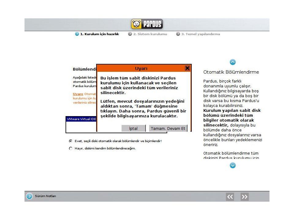 KDE masaüstü ortamı 3.5; KDE (K Desktop Enviroment), tümleşik uygulama programları ve araçları ile meşhur bir masaüstü ortamıdır.