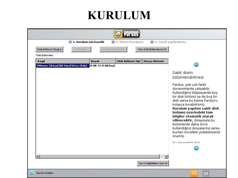 Ağ servisleri Pardus bir ağda aşağıdaki ağ servislerini verecek şekilde kullanılabilir.