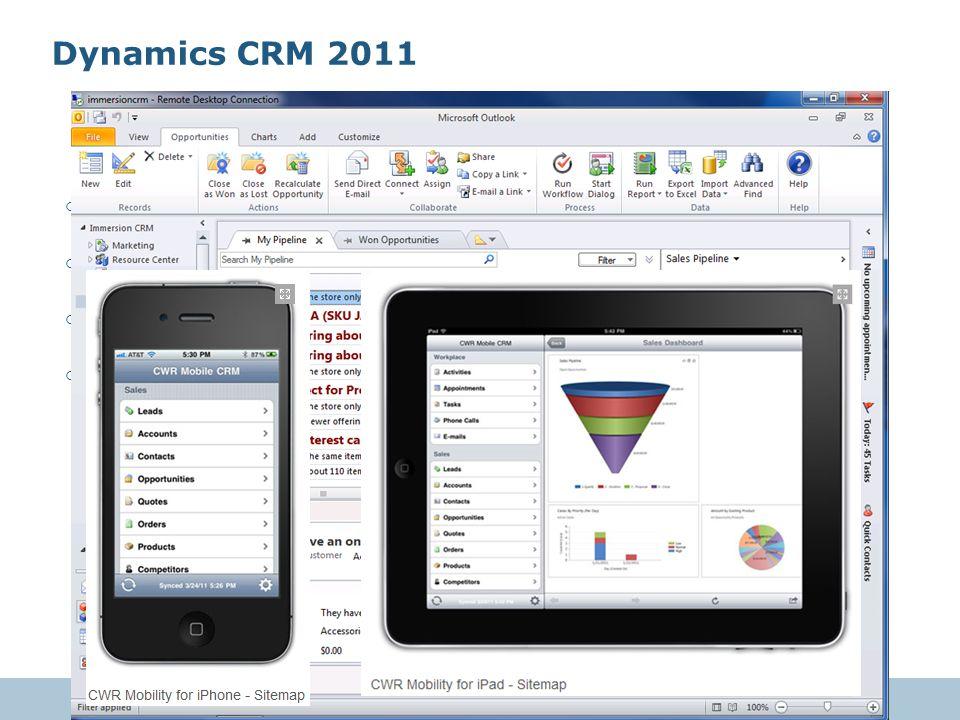 © 2011 VeriPark19 o Kullanıcı dostu ve gelişmiş önyüz o Outlook ile birlikte çalışma o Gelişmiş kurum içi birlikte çalışılabilirlik o Tüm cihazlardan kullanabilme Dynamics CRM 2011
