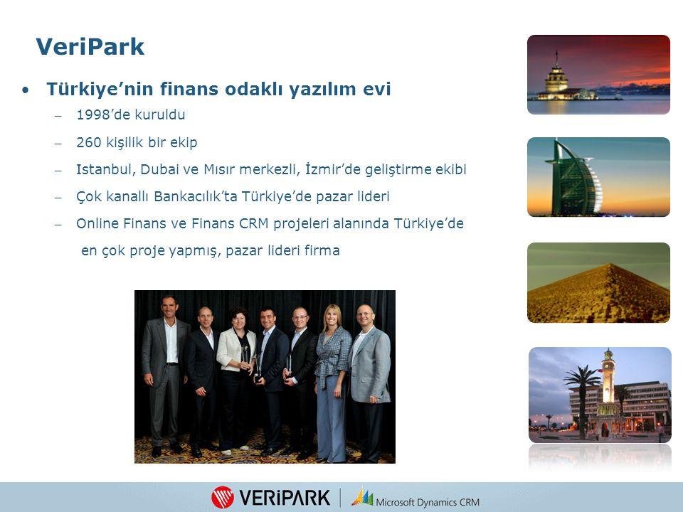 3 VeriPark Türkiye'nin finans odaklı yazılım evi – 1998'de kuruldu – 260 kişilik bir ekip – Istanbul, Dubai ve Mısır merkezli, İzmir'de geliştirme ekibi – Çok kanallı Bankacılık'ta Türkiye'de pazar lideri – Online Finans ve Finans CRM projeleri alanında Türkiye'de en çok proje yapmış, pazar lideri firma