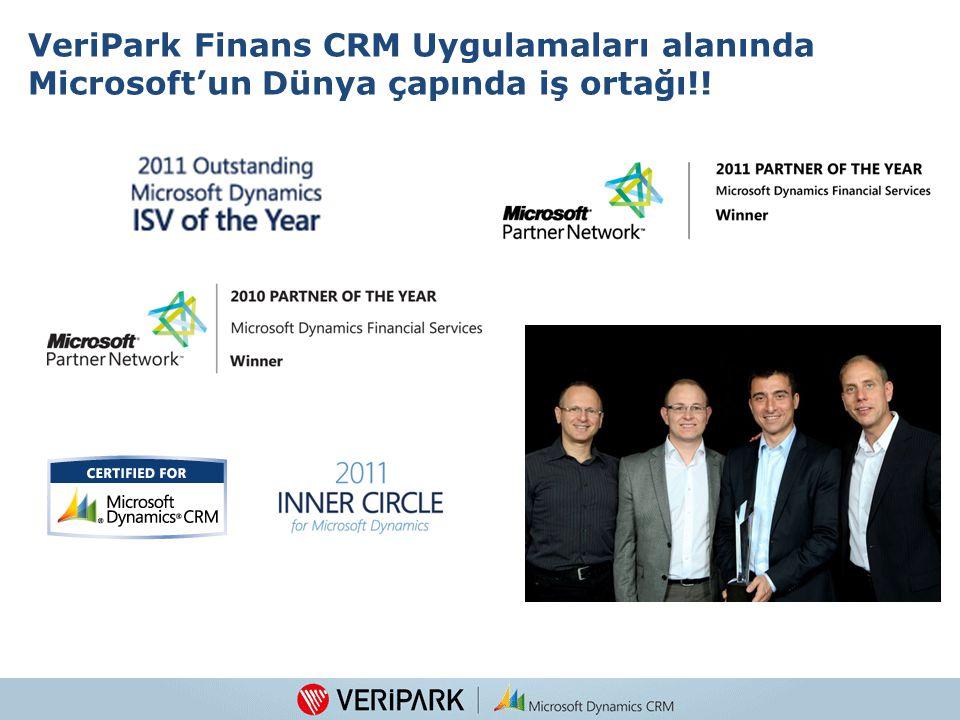 5 VeriPark Finans CRM Uygulamaları alanında Microsoft'un Dünya çapında iş ortağı!!