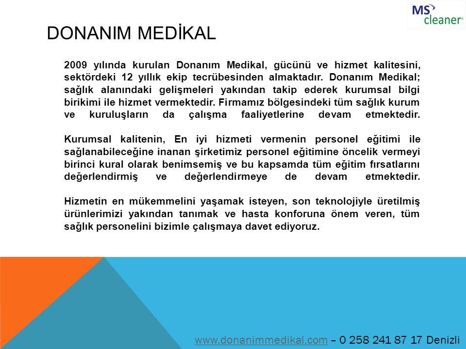 DONANIM MEDİKAL 2009 yılında kurulan Donanım Medikal, gücünü ve hizmet kalitesini, sektördeki 12 yıllık ekip tecrübesinden almaktadır. Donanım Medikal