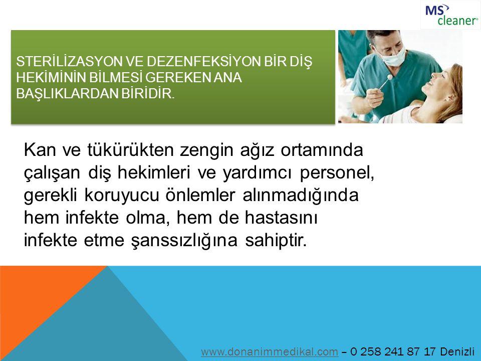 DENTAL ÖNCESİ www.donanimmedikal.comwww.donanimmedikal.com – 0 258 241 87 17 Denizli